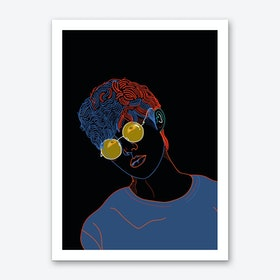 Yellow Glasses Art Print
