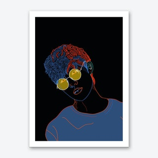 Yellow Glasses Art Print