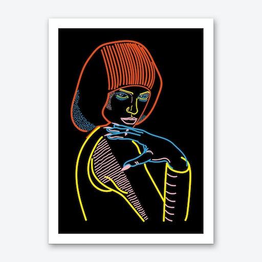 Model Woman Art Print