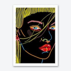 Model Face Art Print
