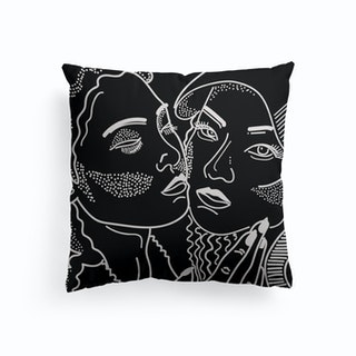 Goddess Black And White Canvas Cushion