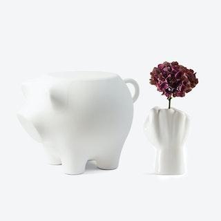 Sidepig & FCK Vase Set in White