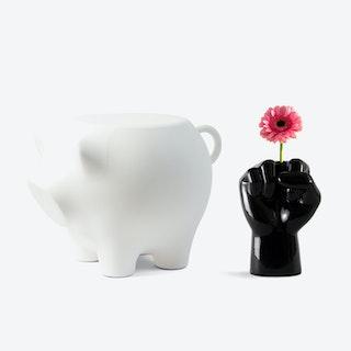 Sidepig & FCK Vase Set in Black & White