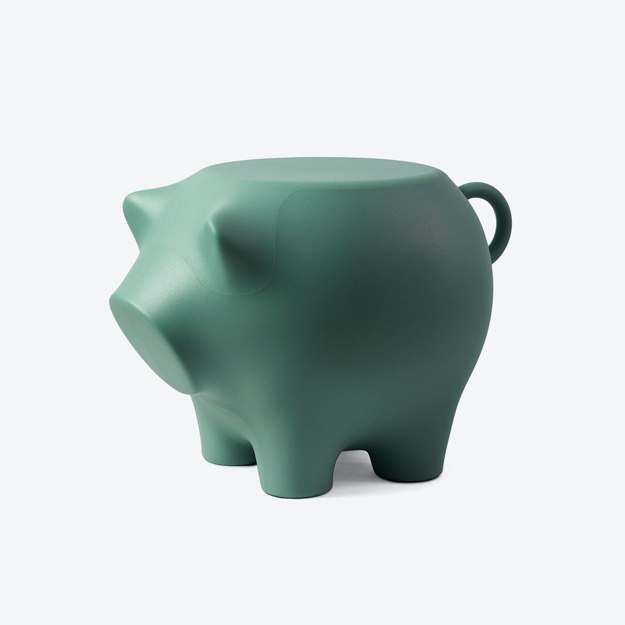 Sidepig in Sea Green
