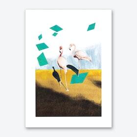 Be Beautiful Flamingo Art Print