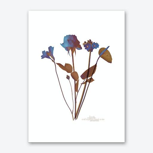 Ode aux Fleurs Bleu Art Print