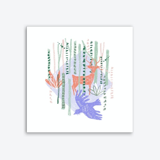 The Bird and the Deer Art Print