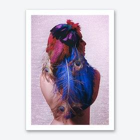 Noise Feather Art Print