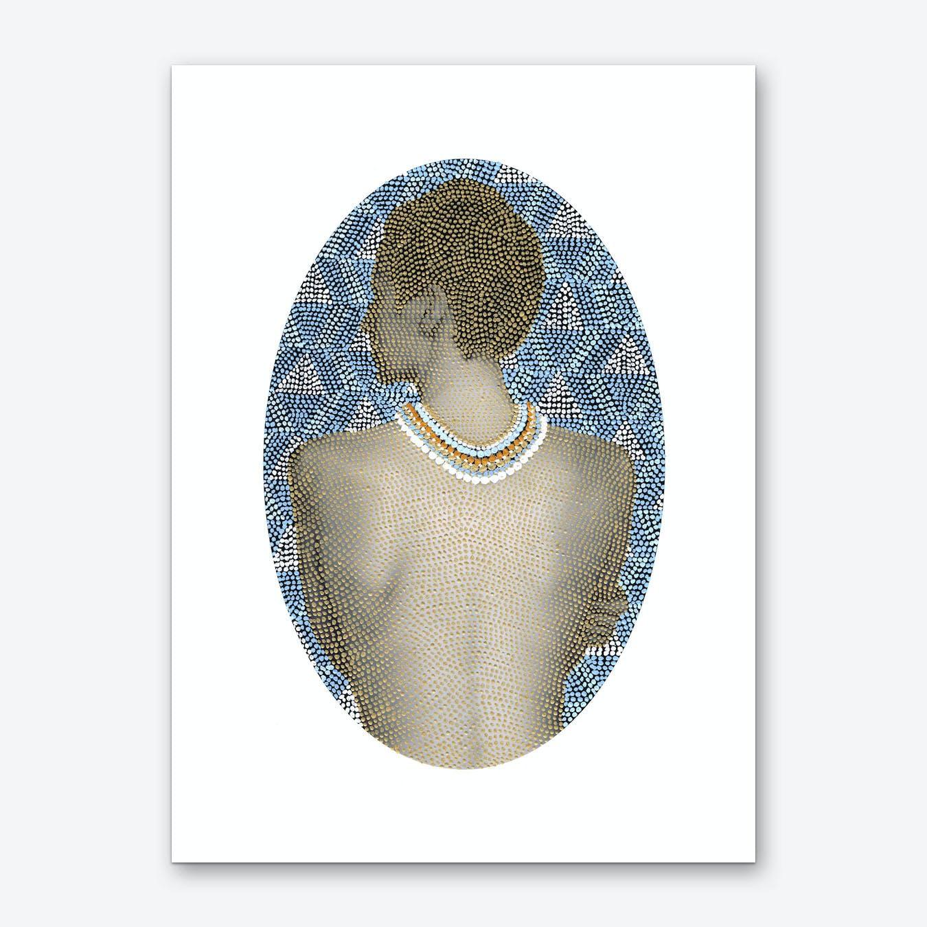 Noise Woman Art Print