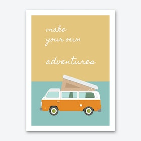 Adventures Blue Art Print