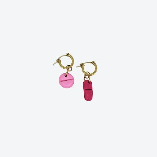 Pain Killer Earrings - Pink