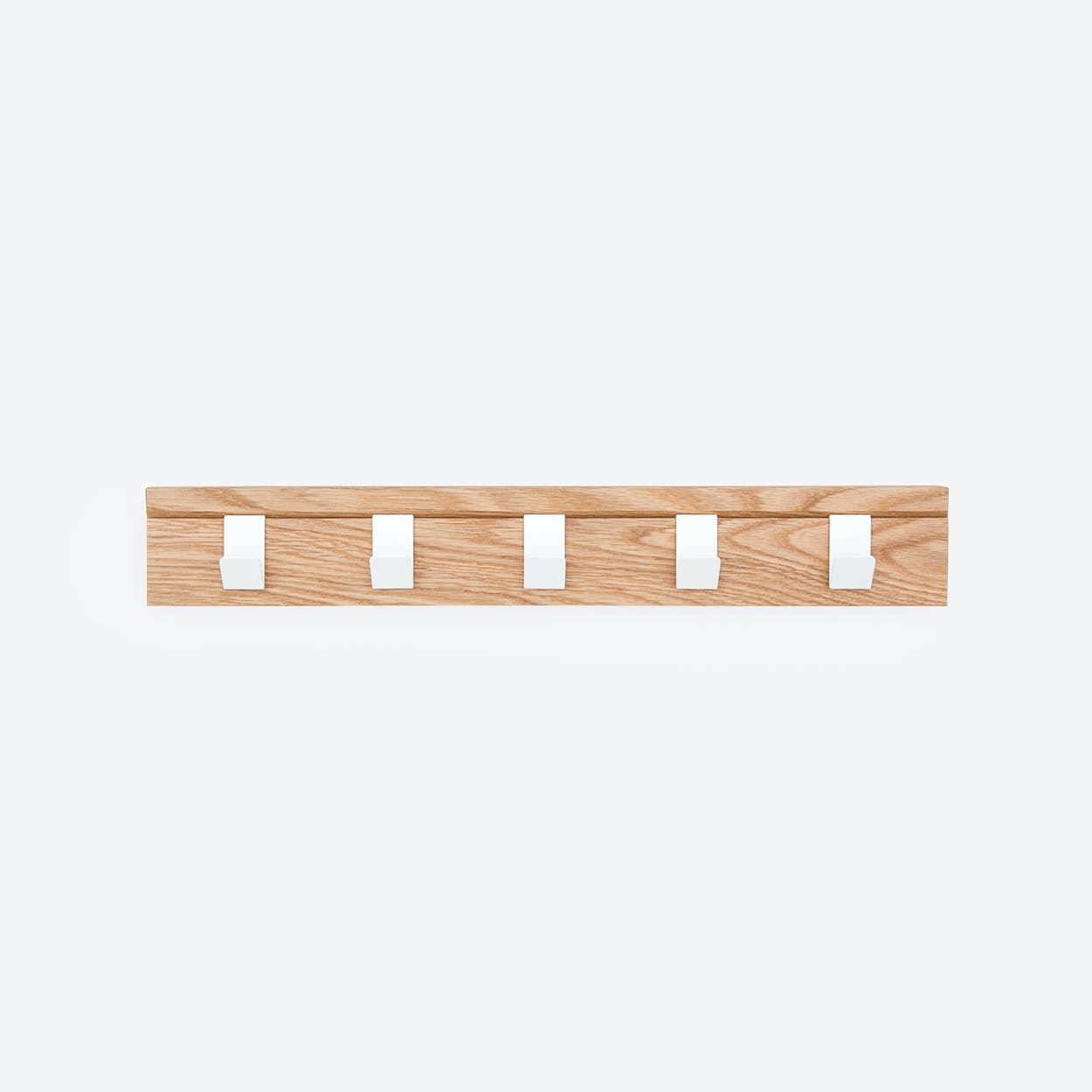 "Solid Wood Coat Rack ""45"" in Oak"