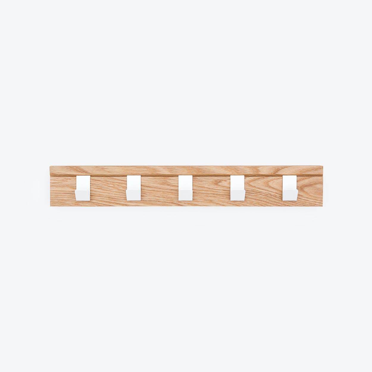 "Solid Wood Coat Rack ""45"" in Oak"