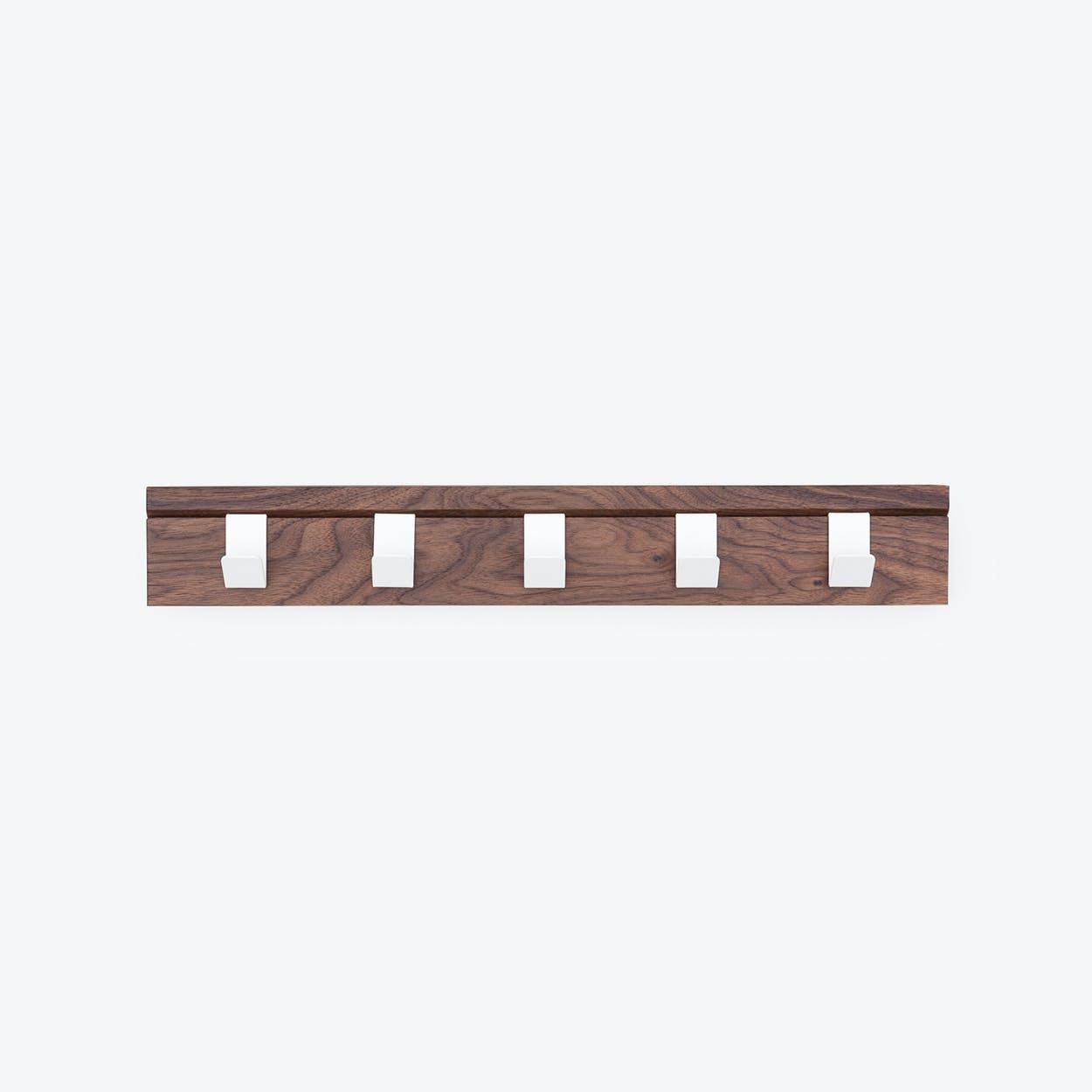 "Solid Wood Coat Rack ""45"" in Walnut"