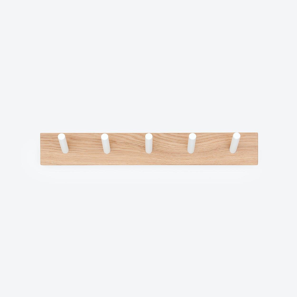 "Solid Wood Coat Rack ""PEG"" in Oak"