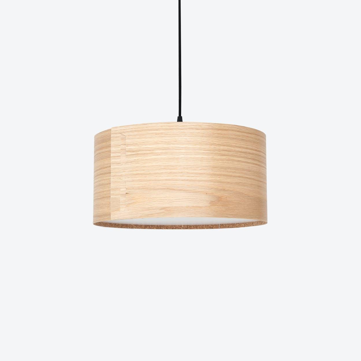 """""""TAB"""" Pendant Light in Oak"""