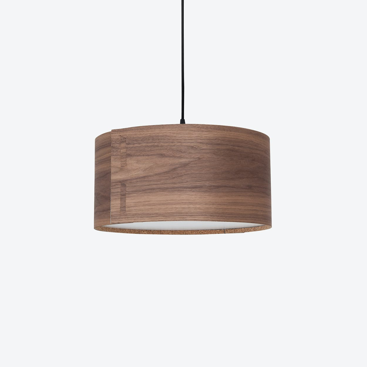 """TAB"" Pendant Light in Walnut"