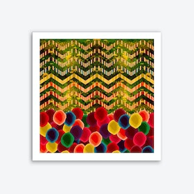 Chevron and Dots Art Print
