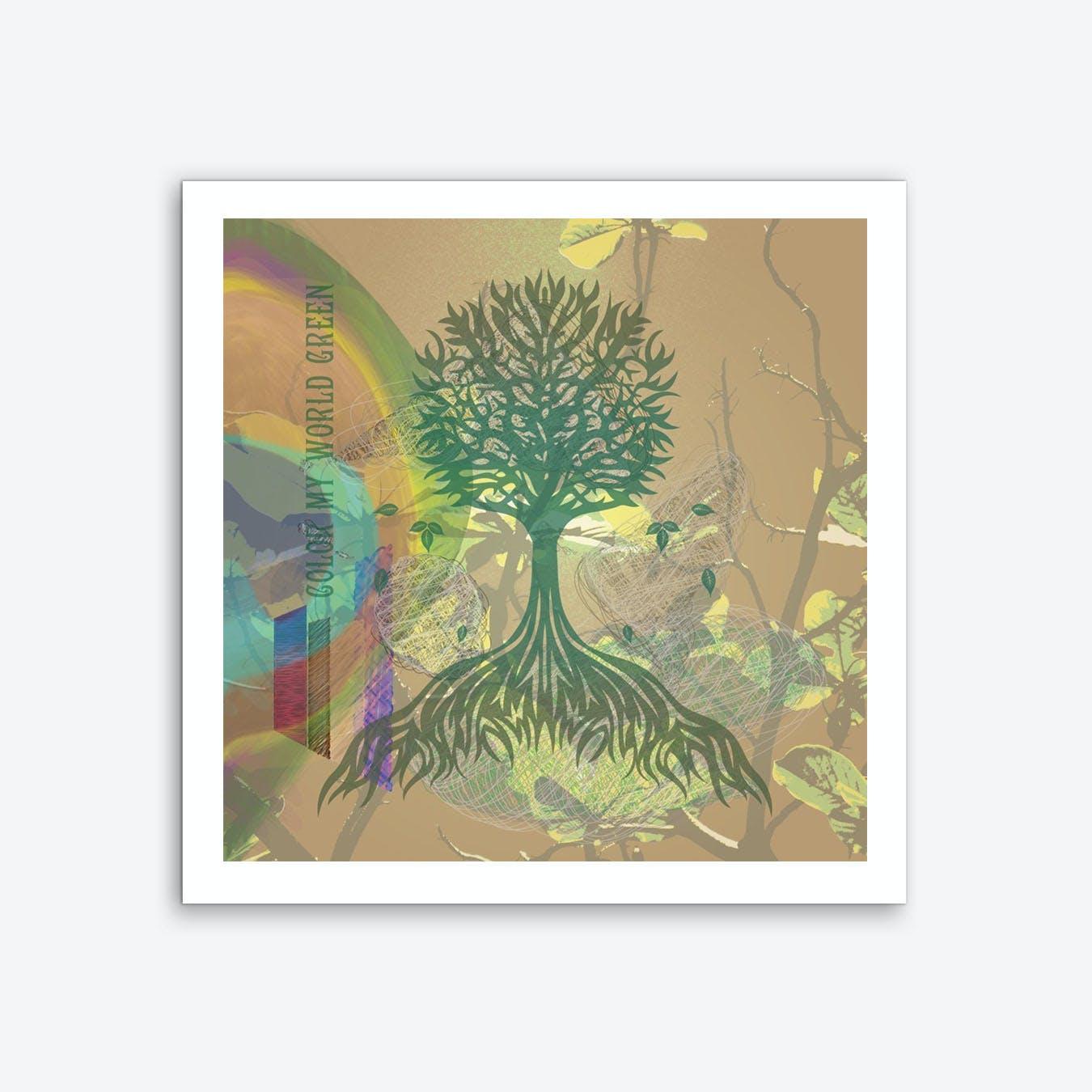 Color My World Green Art Print
