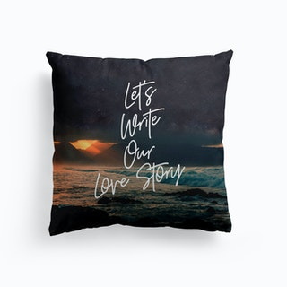 Lets Write Our Love Story Cushion