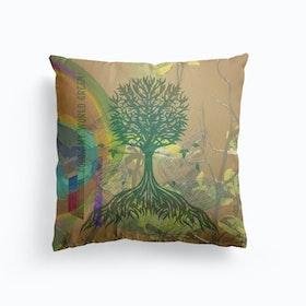 Color My World Green Cushion