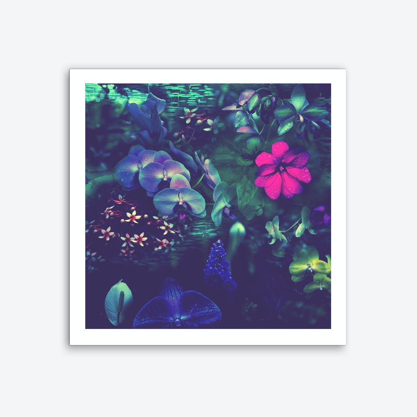 Gathering Of Flowers - Purple Art Print