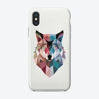 Geo Wolf Phone Case