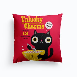 Unlucky Charms Canvas Cushion