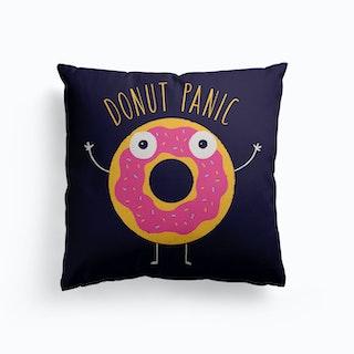 Donut Panic Canvas Cushion