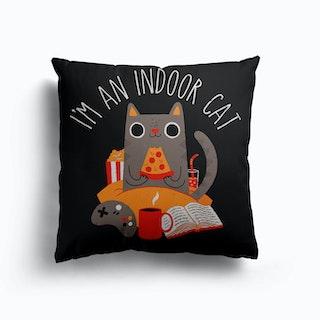 Indoor Cat Canvas Cushion