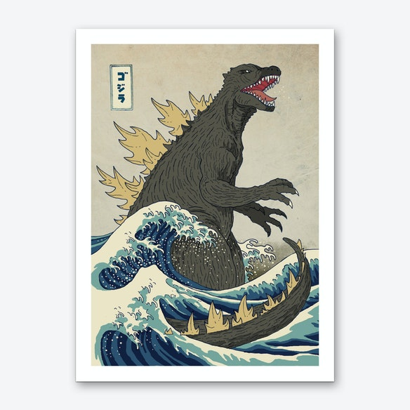 the great monster off kanagawa art print free shipping fy