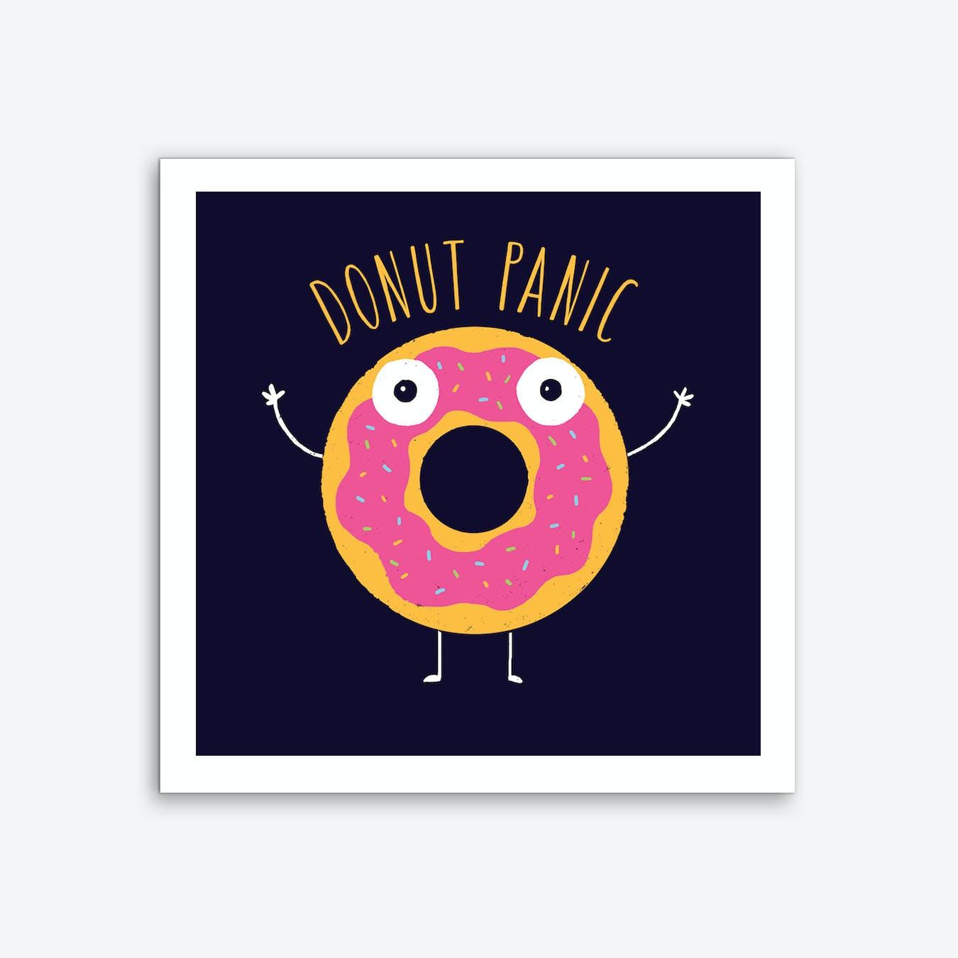 Donut Panic Art Print