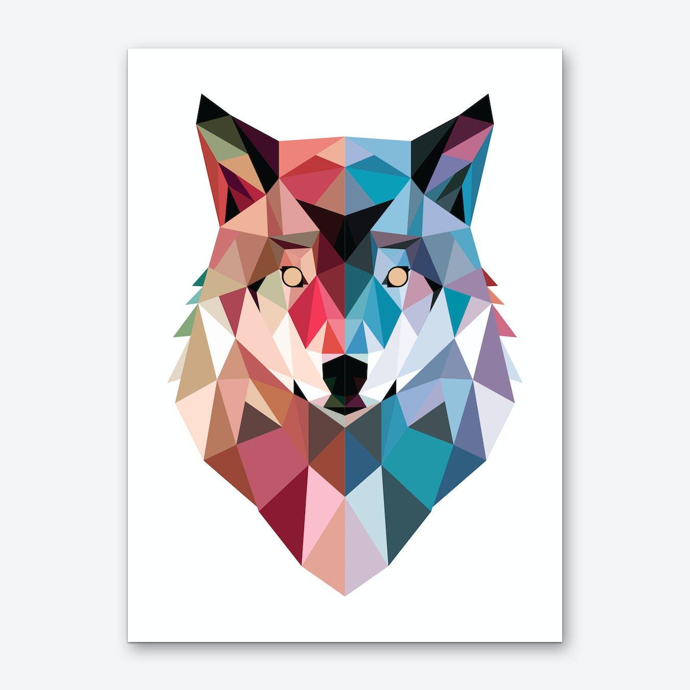 Geo Wolf Art Print