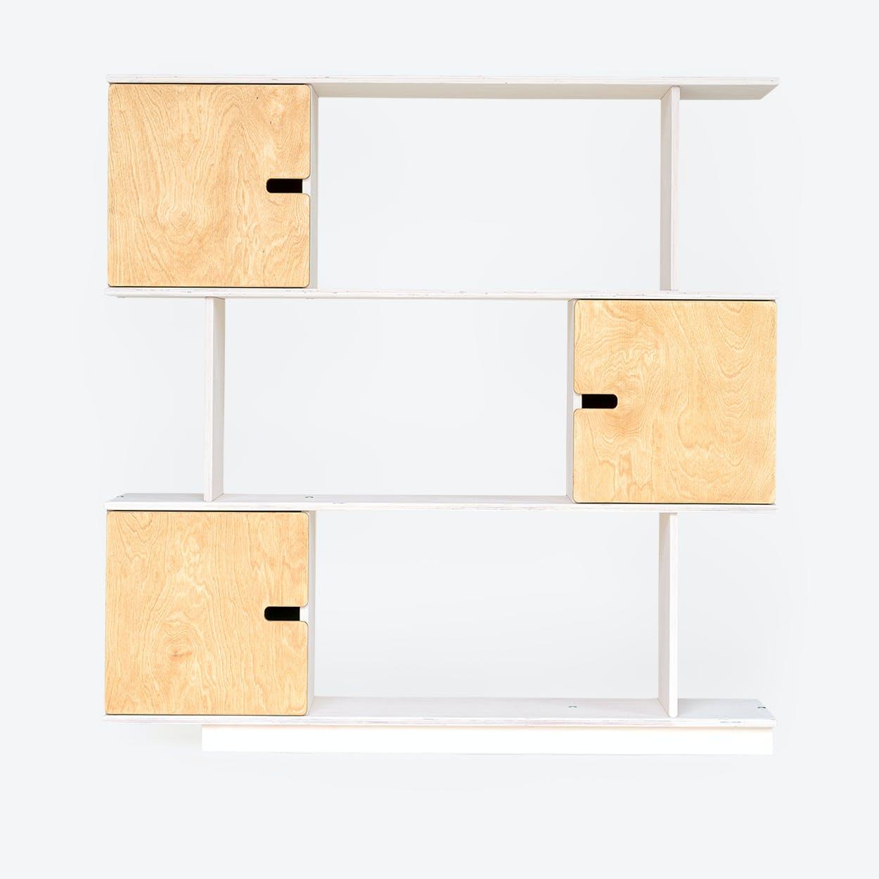 Shelf PIX 3-Levels in White/Oak