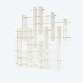 Shelf Criss-Cross, 24 piece Shelving, in White
