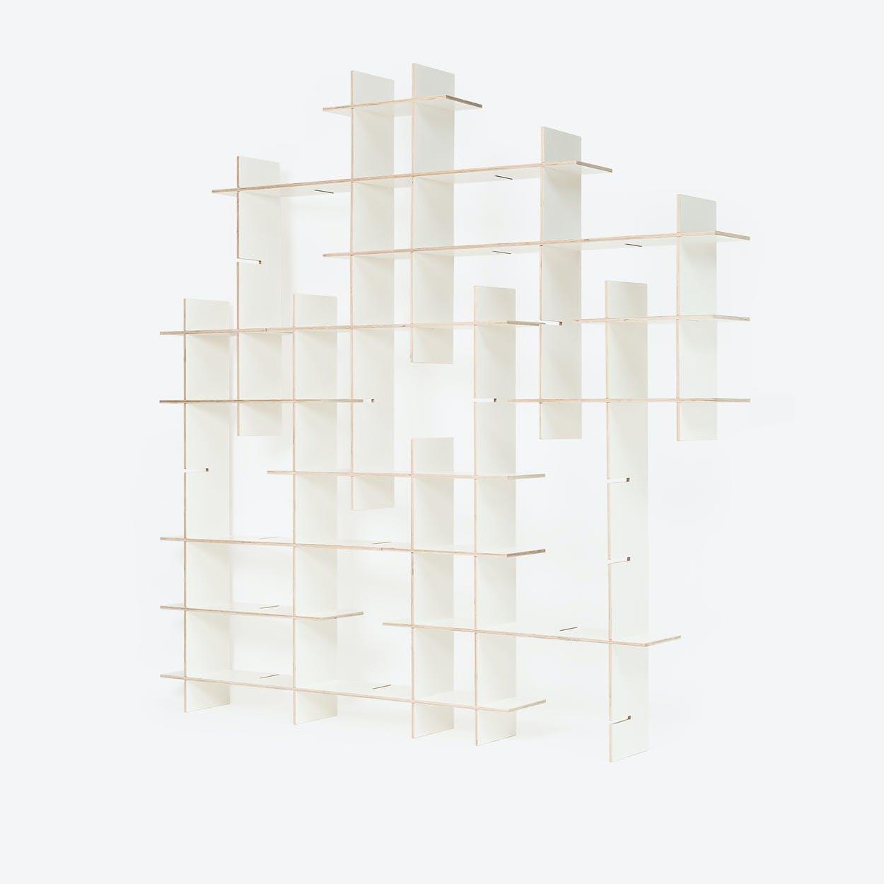 Shelf Criss-Cross, 24 piece Shelving, in White