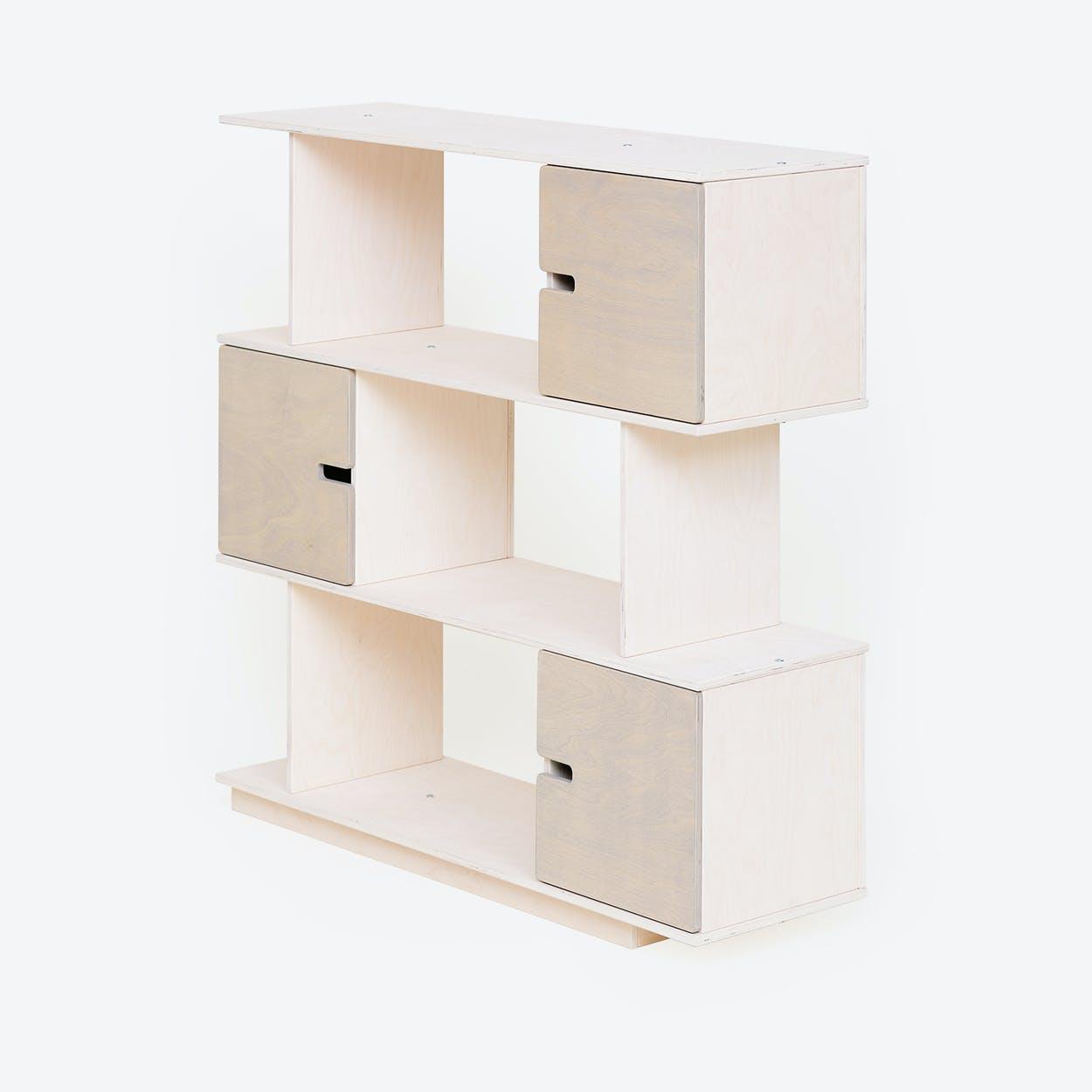 Shelf PIX 3-Levels in White/Light Grey