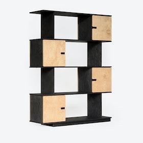 Shelf PIX 4-Levels in Dark Grey/Oak