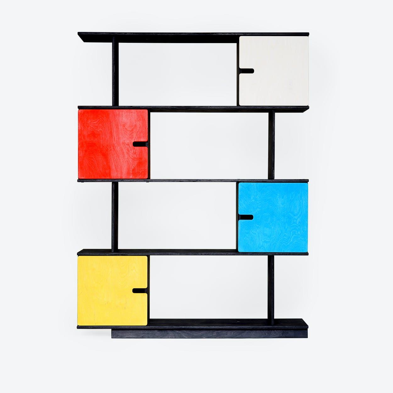 Shelf PIX 4-Levels in Dark Grey/Multi-Colour