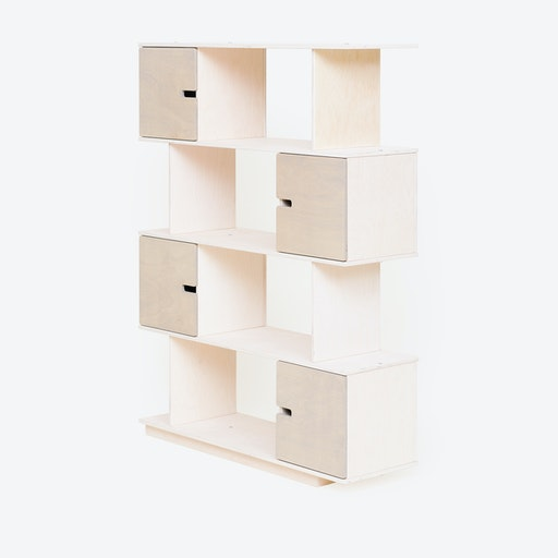 Shelf PIX 4-Levels in White/Light Grey