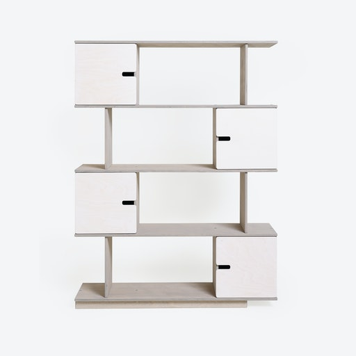Shelf PIX 4-Levels in Light Grey/White