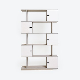 Shelf PIX 5-Levels in Light Grey/White