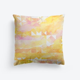 Abstract Watercolor Geometric II Cushion