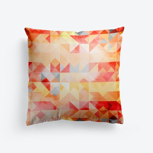 Abstract Watercolor Geometric I Cushion