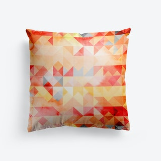 Abstract Watercolor Geometric I Cushion