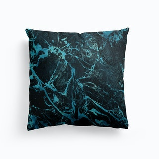 Black Turquoise Marble Cushion