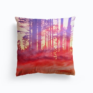 Artistic CVI Dreamy Clouds Forest Cushion