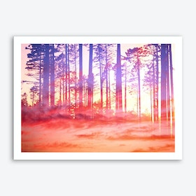 Artistic CVI - Dreamy Clouds Forest Art Print