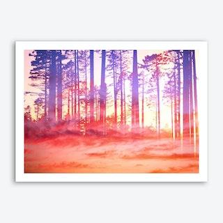 Artistic CVI - Dreamy Clouds Forest Art Print