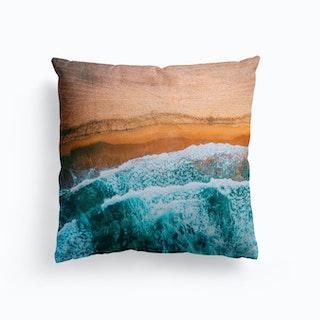 Tropical VII Beach Waves III Cushion